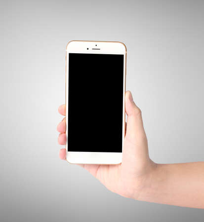 ouch screen smartphone in hand