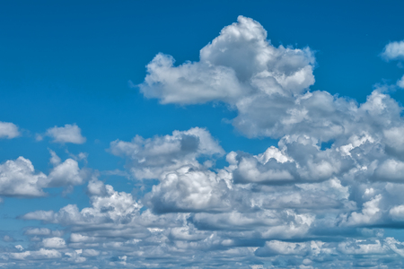 Blue sky with white clouds, background