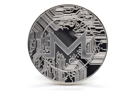 Photo pour Silver Monero (XMR) coin isolated on a white background - image libre de droit