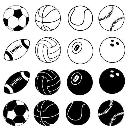 Illustration pour Ball icon vector set. football ball. Sport symbol. - image libre de droit