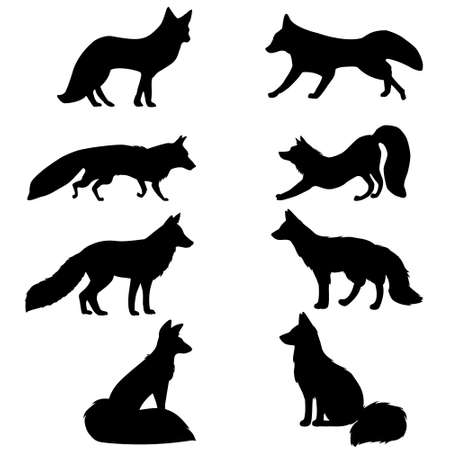 Illustration for Fox SVG. Fox cut file. Fox cutting set. - Royalty Free Image