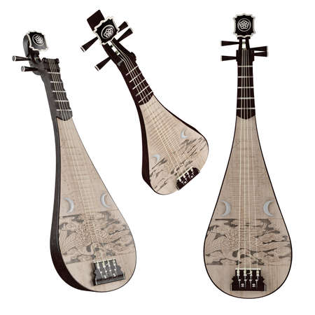 Pipa. Traditional Chinese musical instrument.