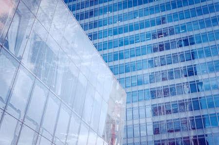 Foto de Modern skyscraper business office, corporate building abstract. Modern architecture. - Imagen libre de derechos