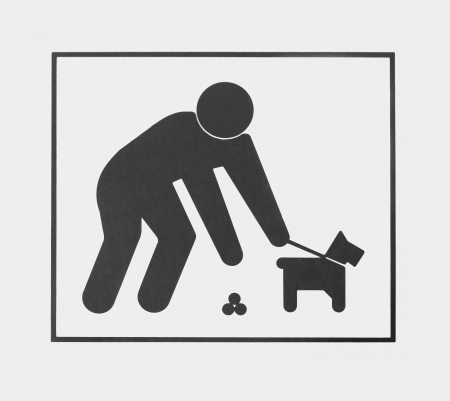 Sign requiring dog owners to pick up the animal waste.