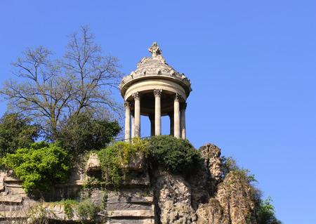 Temple de la Sibylle in Parc des Buttes Chaumont in Paris, France