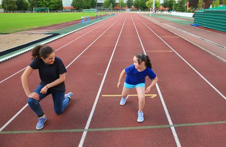 Foto für Little girl have fun on the stadium - Lizenzfreies Bild