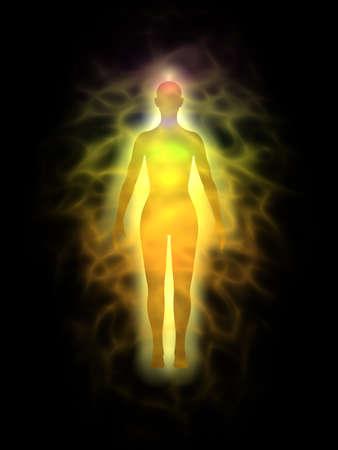 Woman energy body, aura - silhouette