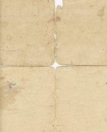 backside of a bond paper, four fragments put together