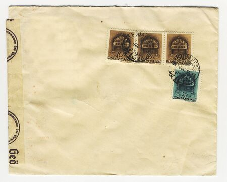envelope, nazi germany neglecting the sanctity of mail