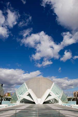 Valencia, Spain, 08 de abril 2012. Hemisferic en la Ciudad de las Artes y las Ciencias
