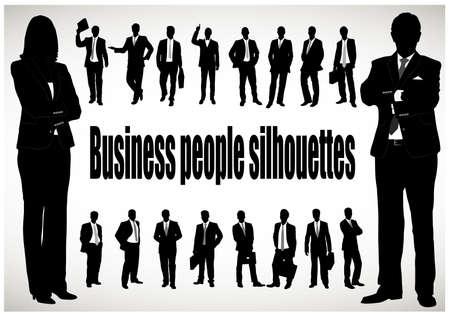 Illustration pour silhouette of the businessman - image libre de droit