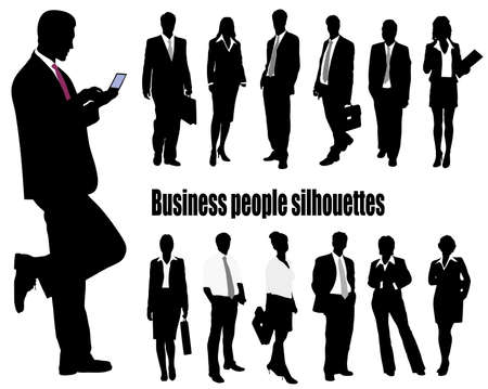 Illustration for silhouettes of businessmen - Royalty Free Image