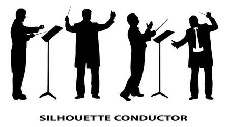 silhouette of conductor