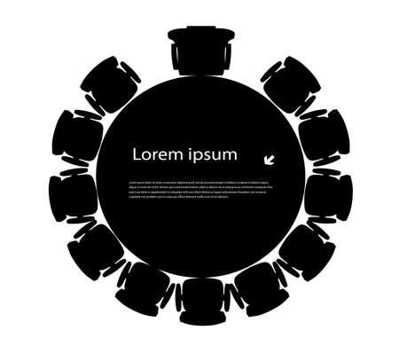 Illustration pour round table for your text - image libre de droit