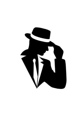 Illustration pour icon of the gentleman - image libre de droit