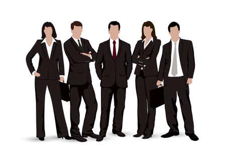 Illustration pour drawings businessmen on a white background - image libre de droit