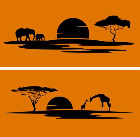 Africa monochrome landscape