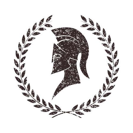 Illustration pour worn warrior icon in grunge style - image libre de droit