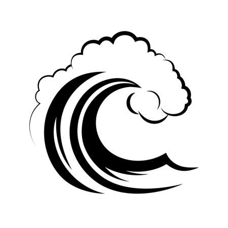 ocean wave on a white background