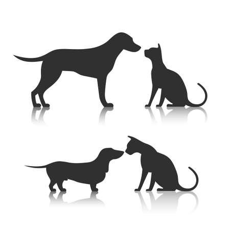 Illustration pour Friends Pet Icon - image libre de droit