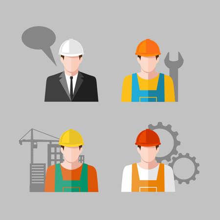 Ilustración de icon people Industry - Imagen libre de derechos