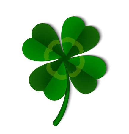 Illustration pour Leaf of a clover symbol of Ireland, vector illustration. - image libre de droit