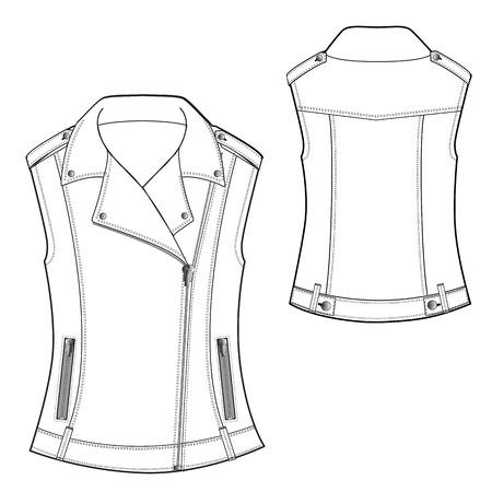 A Vector Illustration of Biker Waistcoat