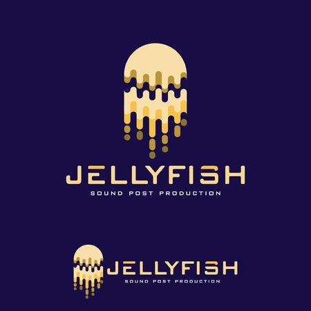 Illustration pour Jellyfish abstract logo vector template - image libre de droit