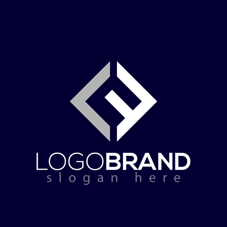 Illustration pour L F Initial Letter square Logo vector element Template - image libre de droit