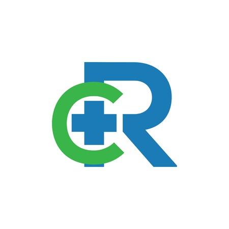 cR Initial Letter medical Logo vector element. medical Initial Letter Logo template