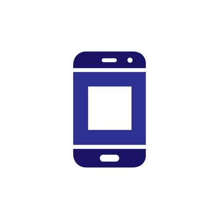 Foto de O Initial letter with Smart phone logo icon vector - Imagen libre de derechos