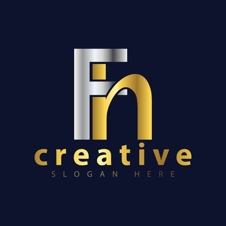 Illustration for F H Initial letter logo icon vector - Royalty Free Image