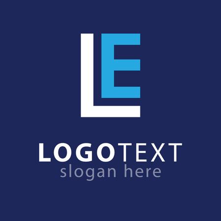 LE Initial letter logo vector