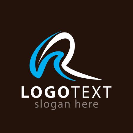 Illustration pour RH Initial letter logo icon vector template - image libre de droit