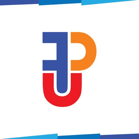 F P U Initial Letter Logo Icon Vector template