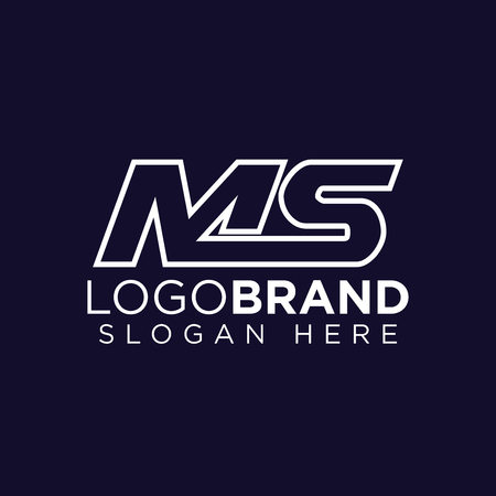 MS Initial letter connect logo vector