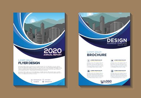 Illustration for Brochure design, cover modern layout, annual report, poster, flyer in A4 with colorful, geometric shapes for tech, science, market with light background - Royalty Free Image
