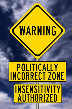 Photo pour Politically incorrect illustration - image libre de droit