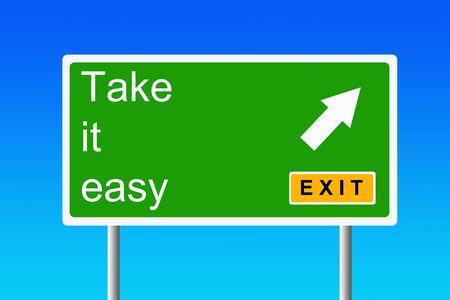 Photo pour Take it easy illustration - image libre de droit
