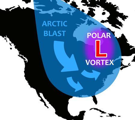 Photo for Polar vortex illustration - Royalty Free Image