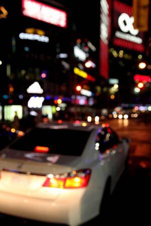 Photo pour city night traffic - image libre de droit