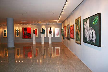 Photo pour Trabzon,Turkey- July 21,2011:Painting and sculpture exhibition in  Trabzon Tevfik Serdar Culture And Art Center .Trabzon,Turkey - image libre de droit