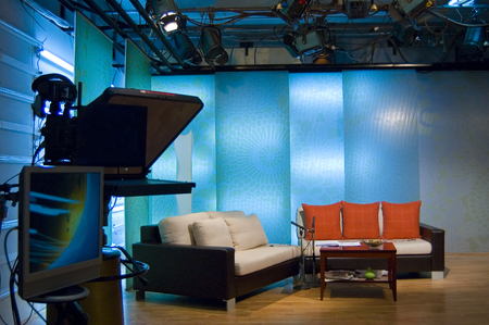 TV news profesionall studio for broadcast production