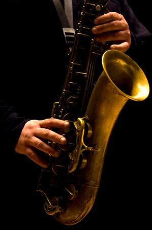 Man playing saxophone - Jazz music