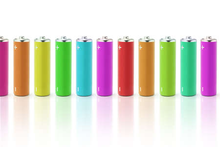 Multicolor batteries with reflections on what background