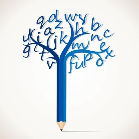 alphabetical tree stock