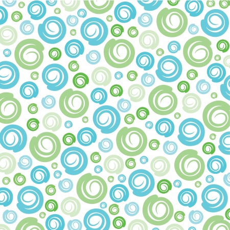 Illustration for Green-Blue swirl pattern background stock vector - Royalty Free Image