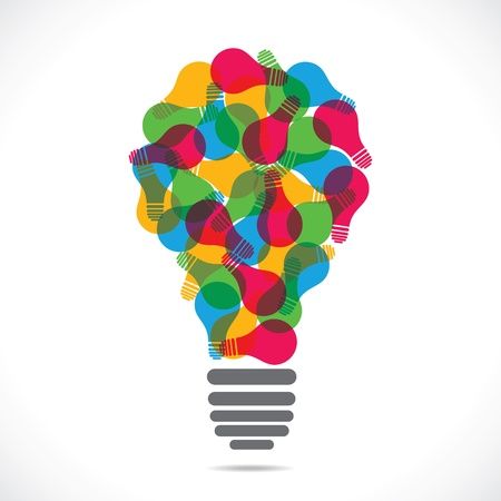 colorful  bulb design with bulb stock vector