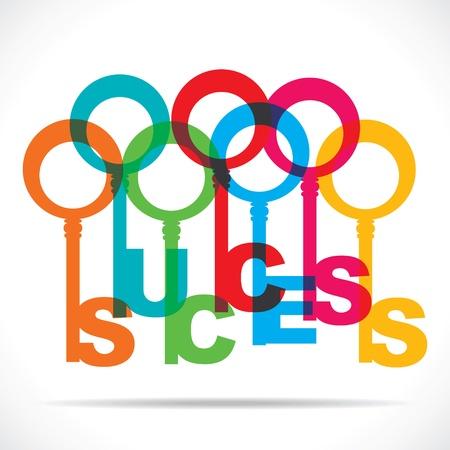 color success word key stock vector