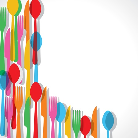 Colorful fork pattern background stock vectorの素材 [FY31018873395]
